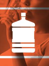 Imagem com o logo de água mineral