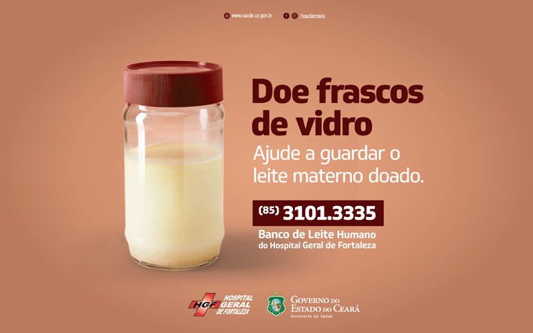 HGF faz campanha para doação de frascos de vidro