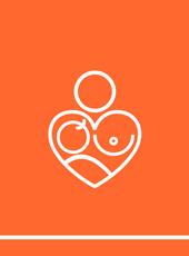 Imagem com o logo de bancos de leite humano