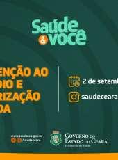 Prevenção ao suicídio e valorização da vida são temas de bate-papo ao vivo em rede social da Sesa