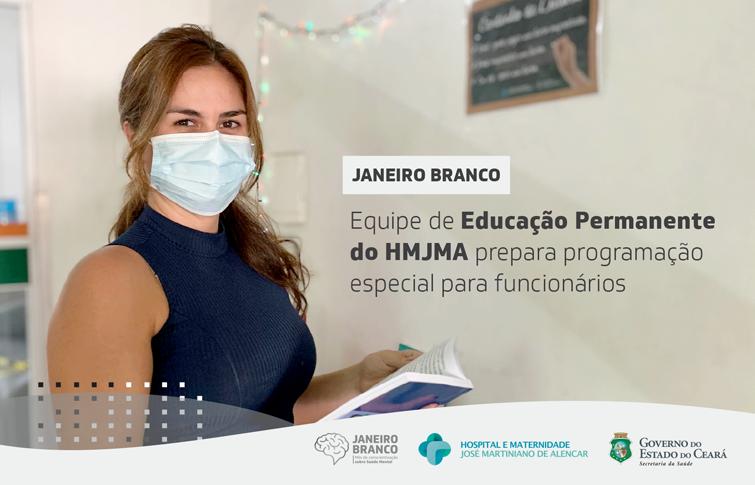 Saúde mental é destaque no HMJMA durante Janeiro Branco
